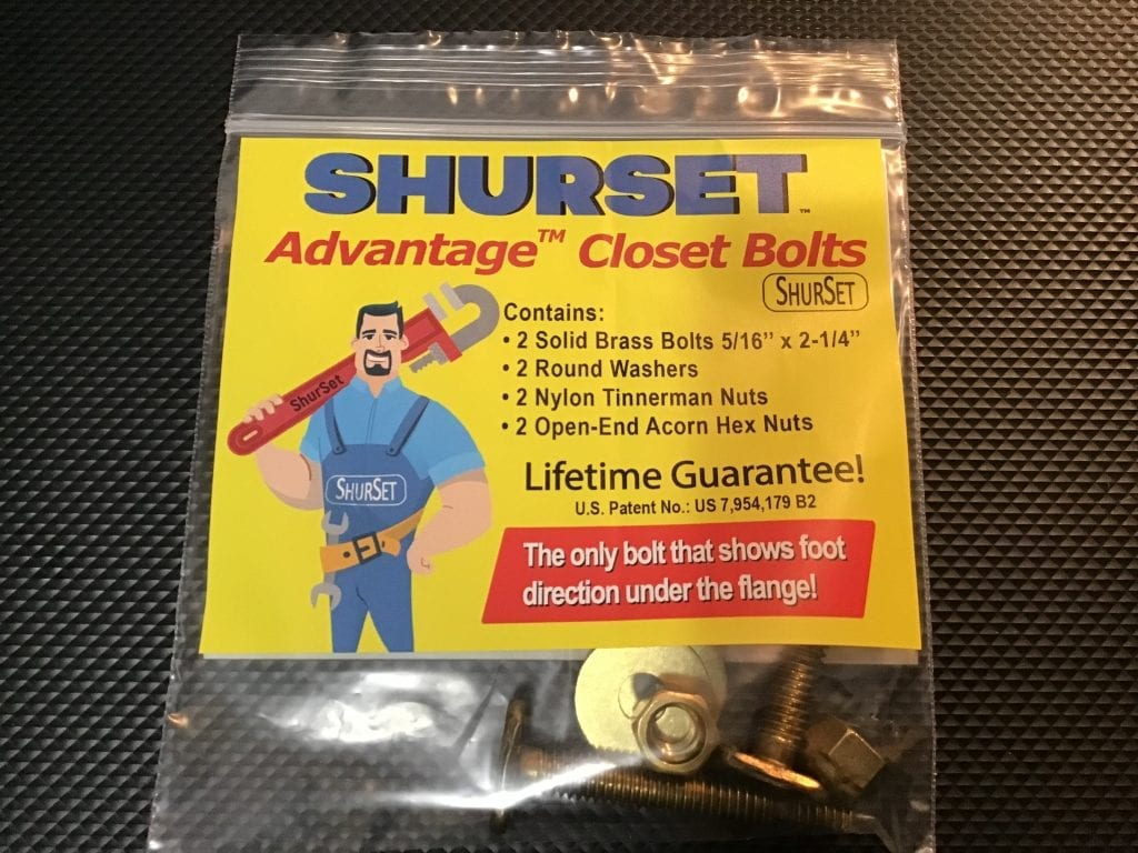 ShurSet Toilet Bolts Bag Front